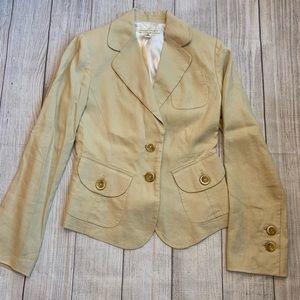 Size 2 BANANA REPUBLIC Light Linen Khaki Blazer